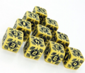 Yellow & Black Battle D6 Sniper Dice Set